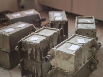 пробы бетона кубики